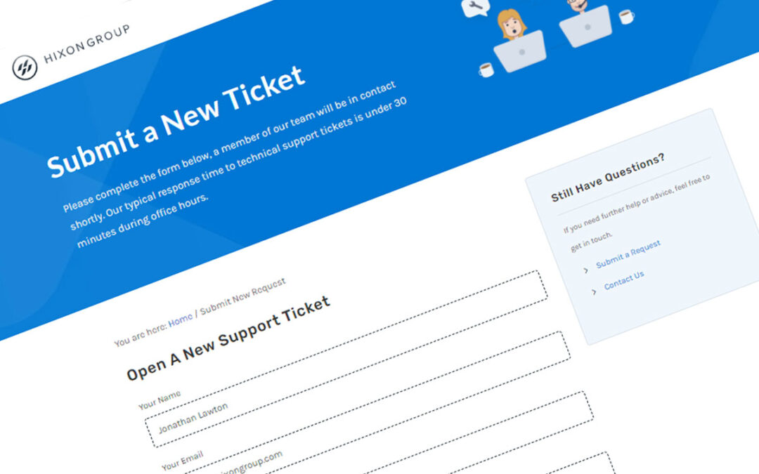 How To Submit a Support Ticket