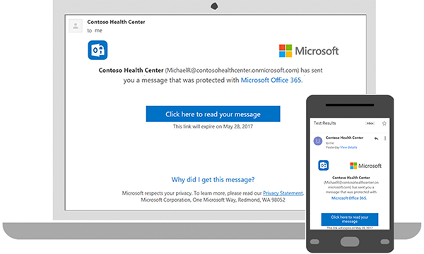 How to send and view encrypted emails using Microsoft 365.
